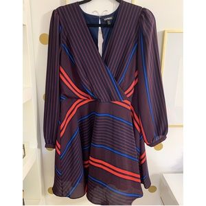 Express Stripped Dress Size L